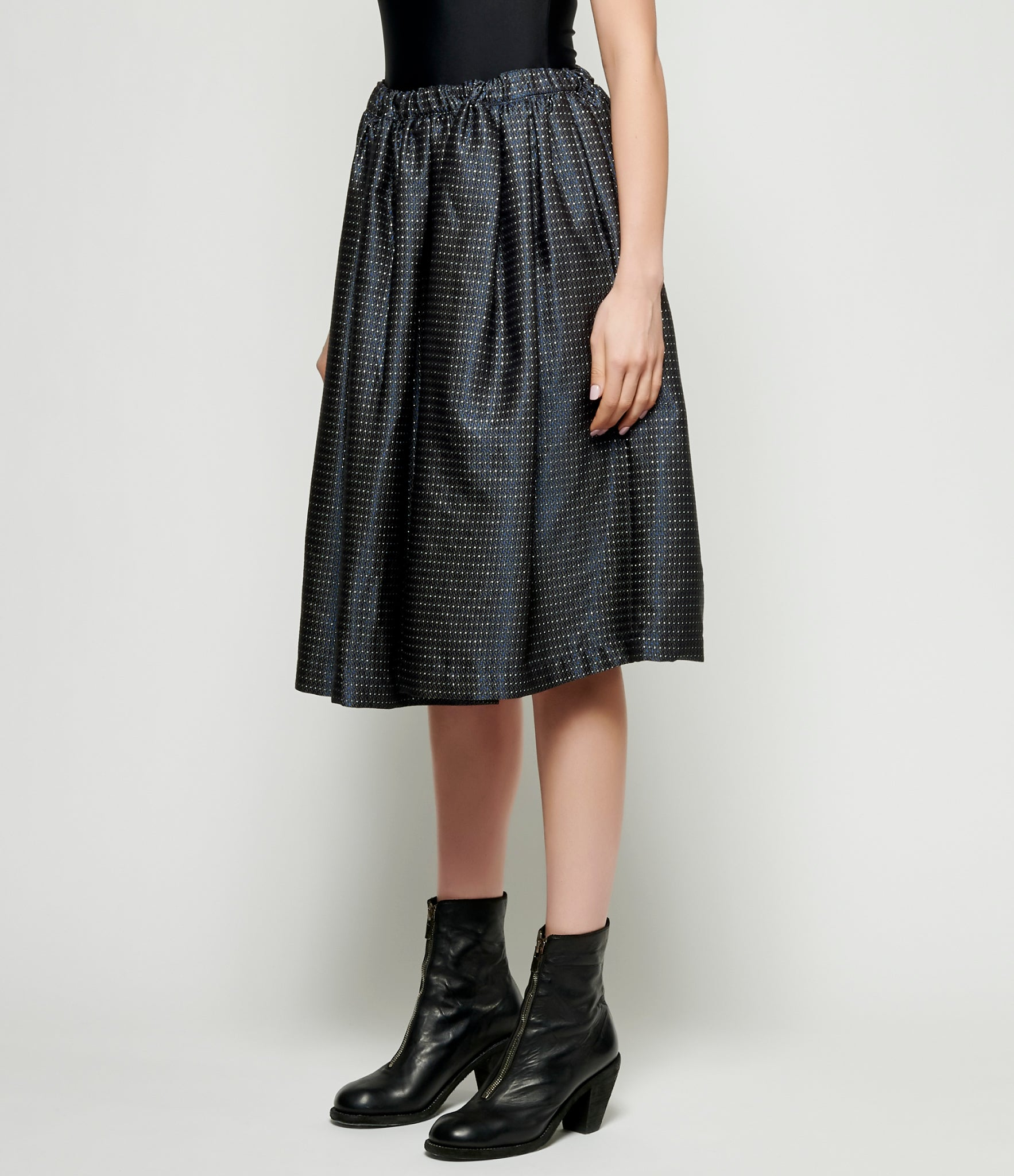 Comme Des Garcons Acetate Polyester Dobby Circle Skirt