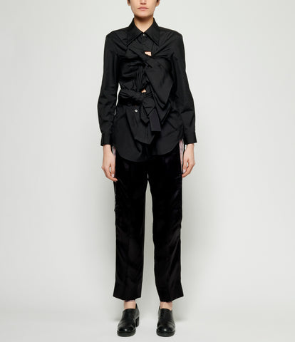 Comme Des Garcons Cotton Broadcloth Bow Shirt