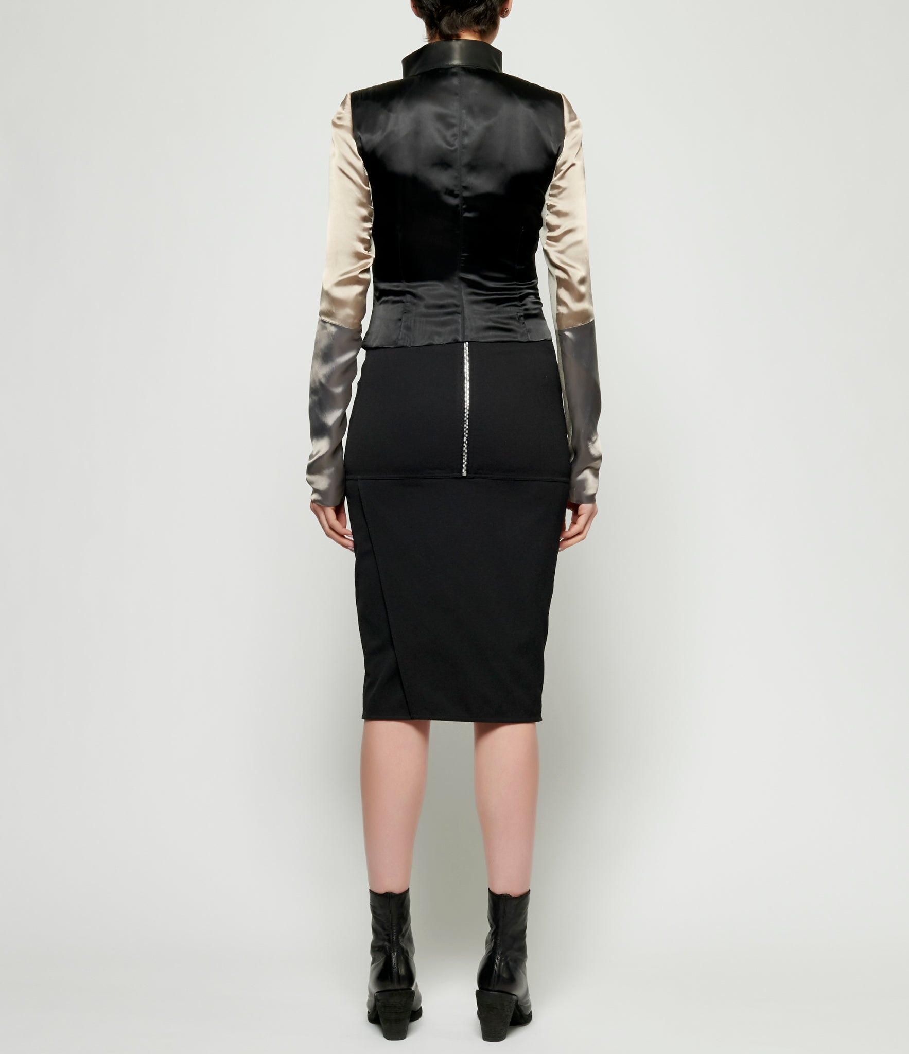 Rick Owens Combo Biker Leather Jacket