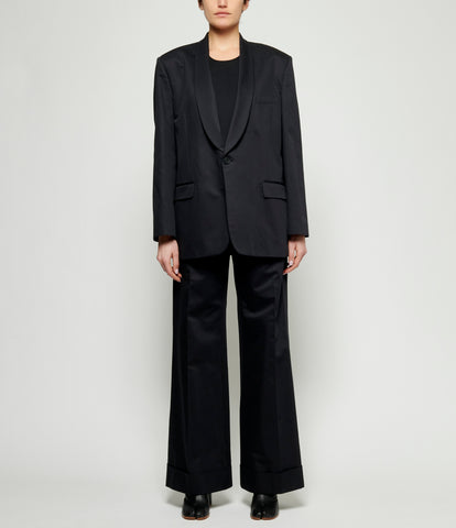 Maison Margiela Fine Cotton Shawl Lapel Blazer