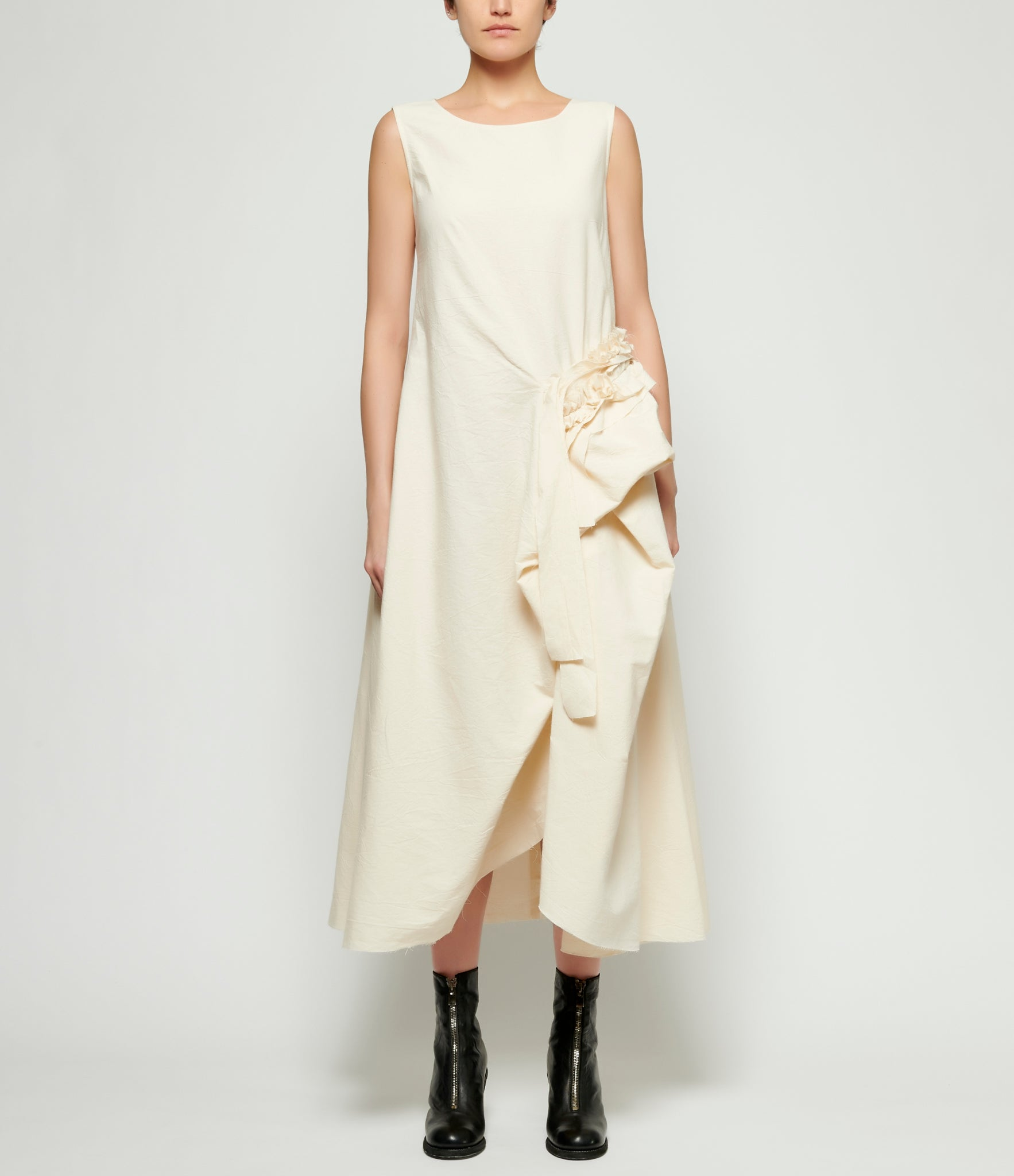 Replika Off White Side Tie Dress