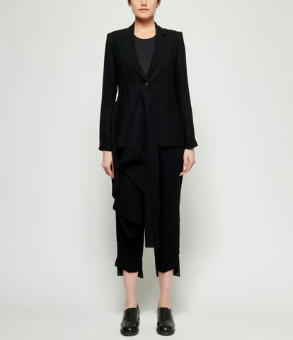 Replika Black Side Drape Jacket