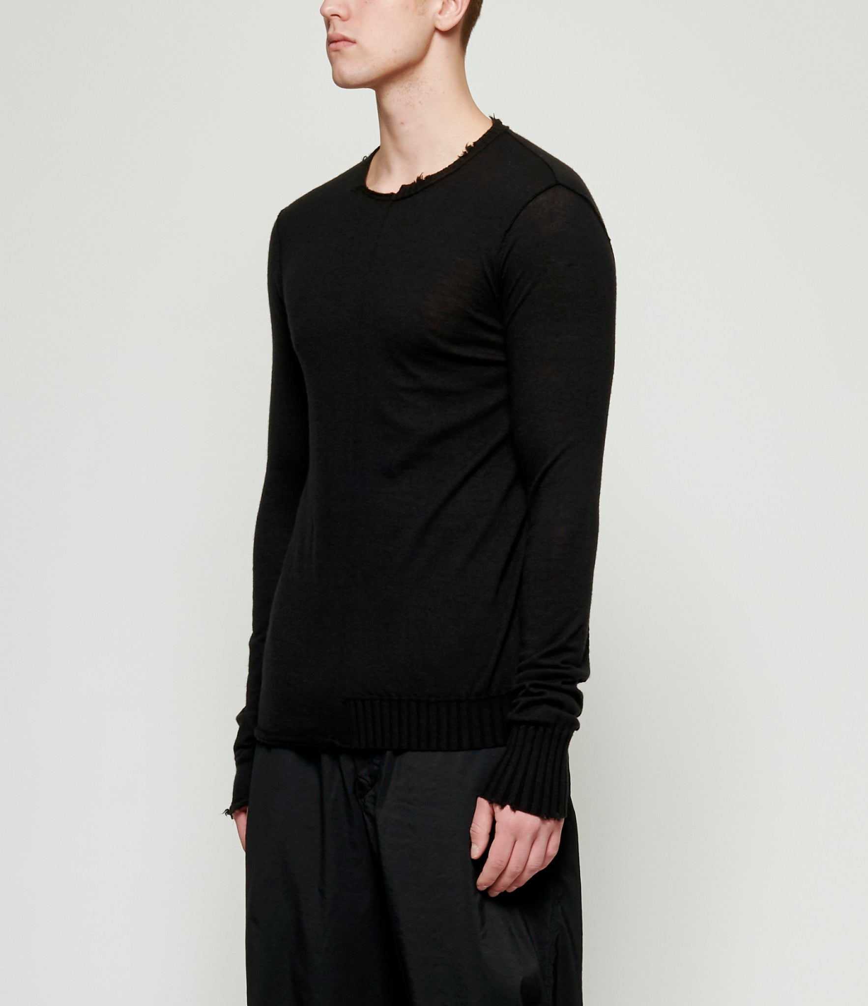Ziggy Chen Deconstructed Baby Cashmere Sweater