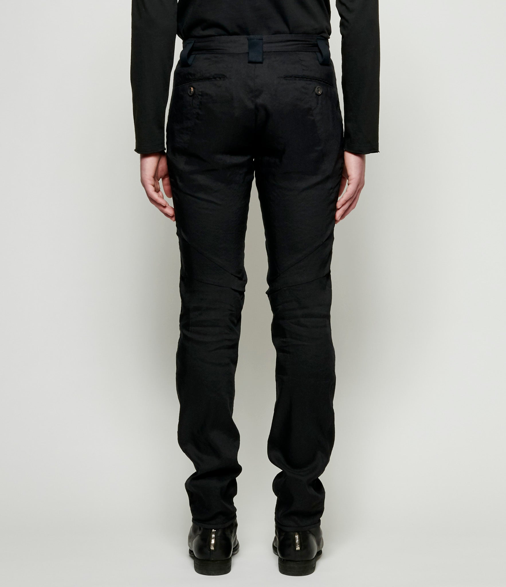 Ziggy Chen Linen Polyester Tapered Pants