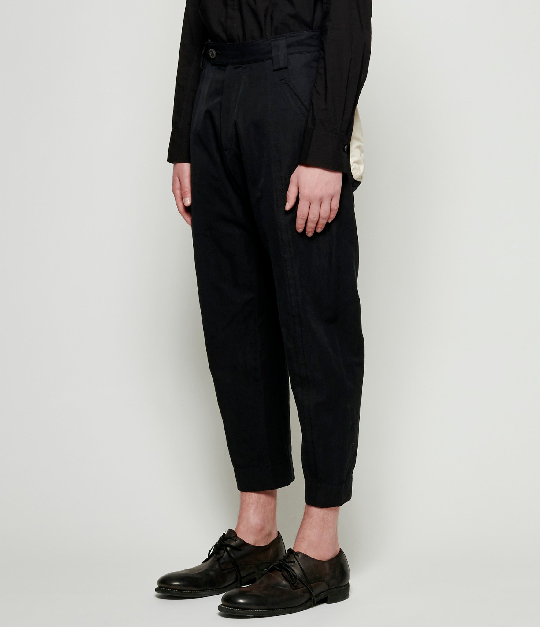 Ziggy Chen Cotton Ramie Loose Fit Pants