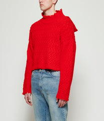 Sagittaire A Deconstructed Hood Red Jumper Sweater