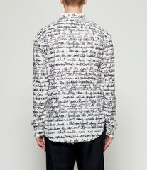 Sagittaire A Quote Graphic Print Linen Shirt