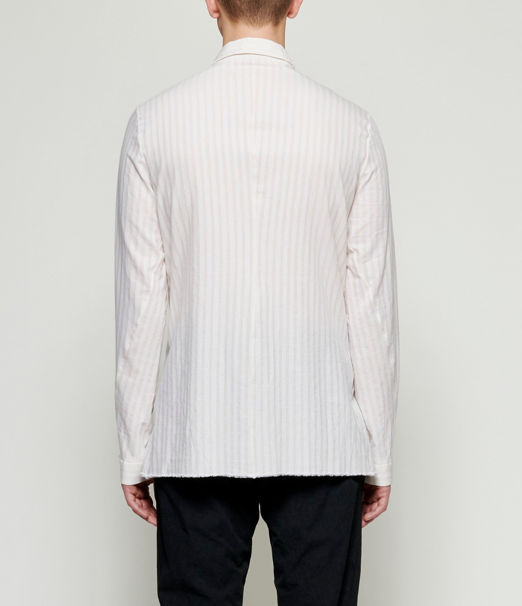 m.a+ Striped Natural Fitted Shirt