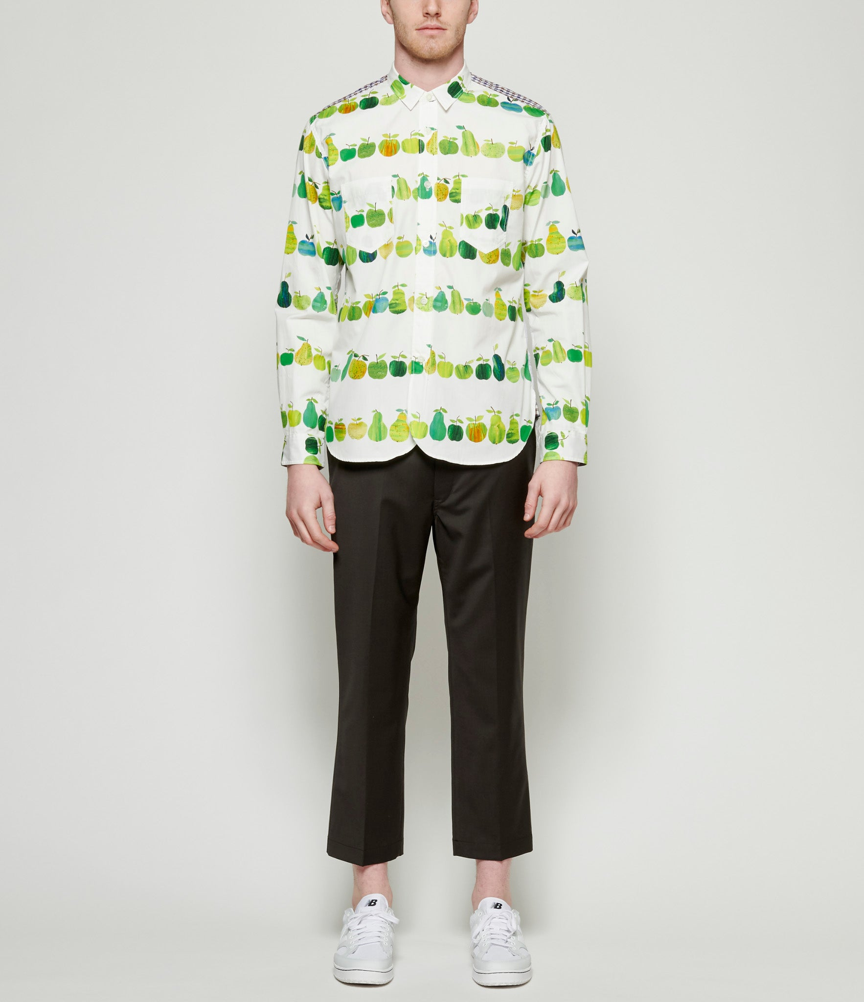 Junya Watanabe Cotton Broad Cloth Mixed Pattern Shirt