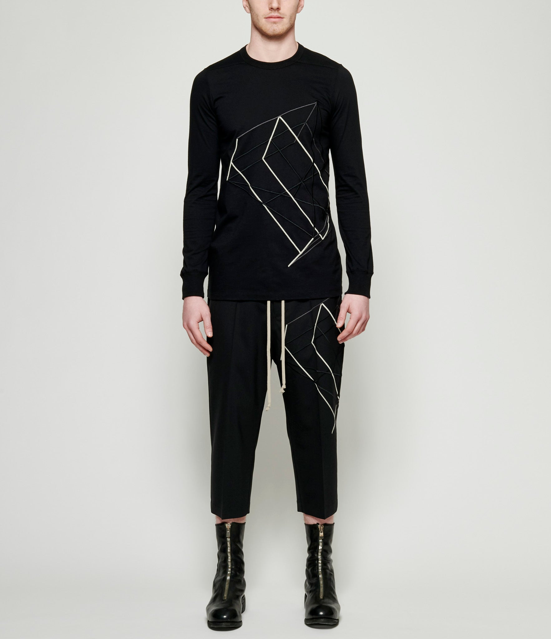 841ae91393b9 Rick Owens Embroidered Long Sleeve Level T-Shirt – IfSohoNewYork