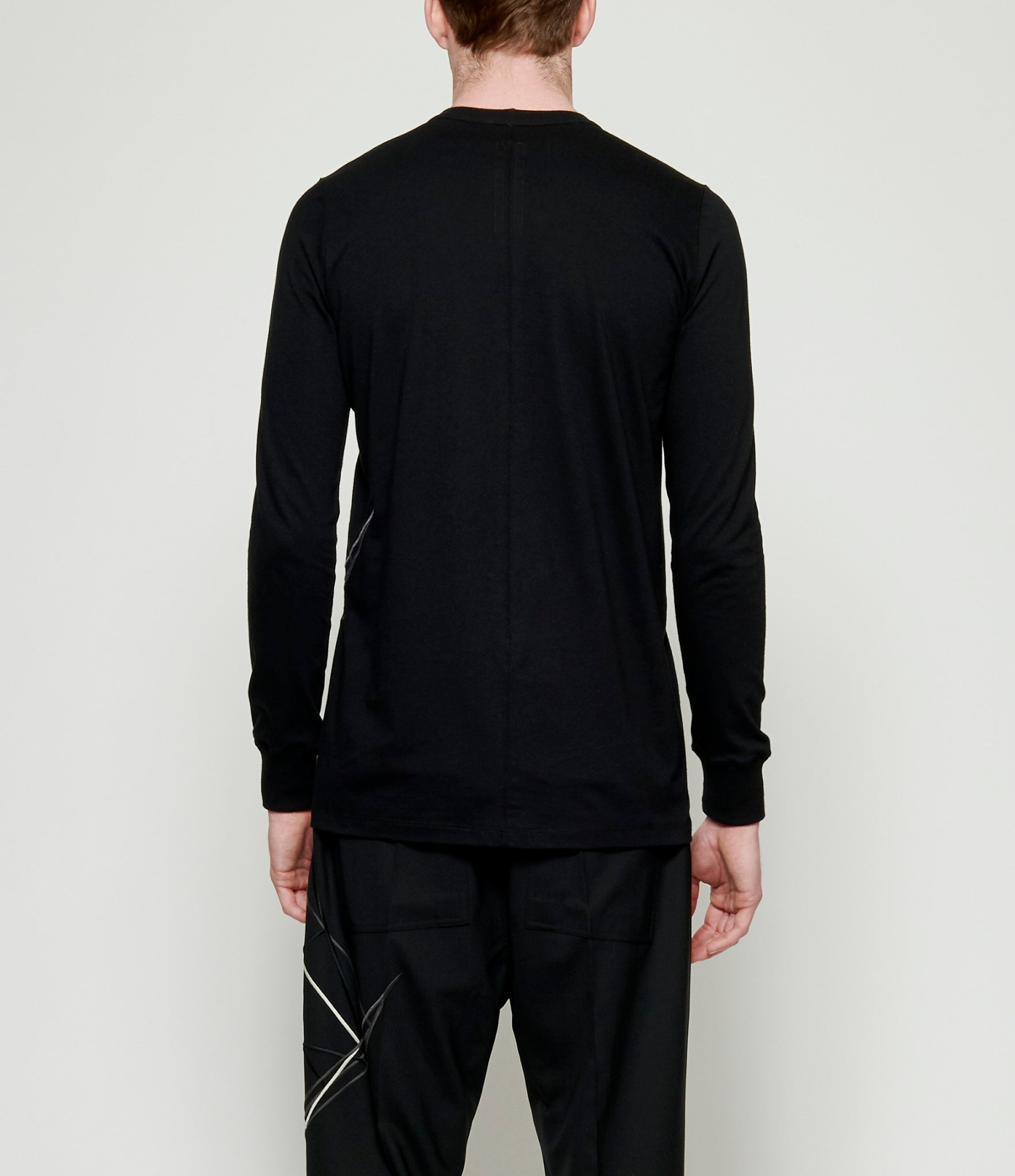 Rick Owens Embroidered Long Sleeve Level T-Shirt