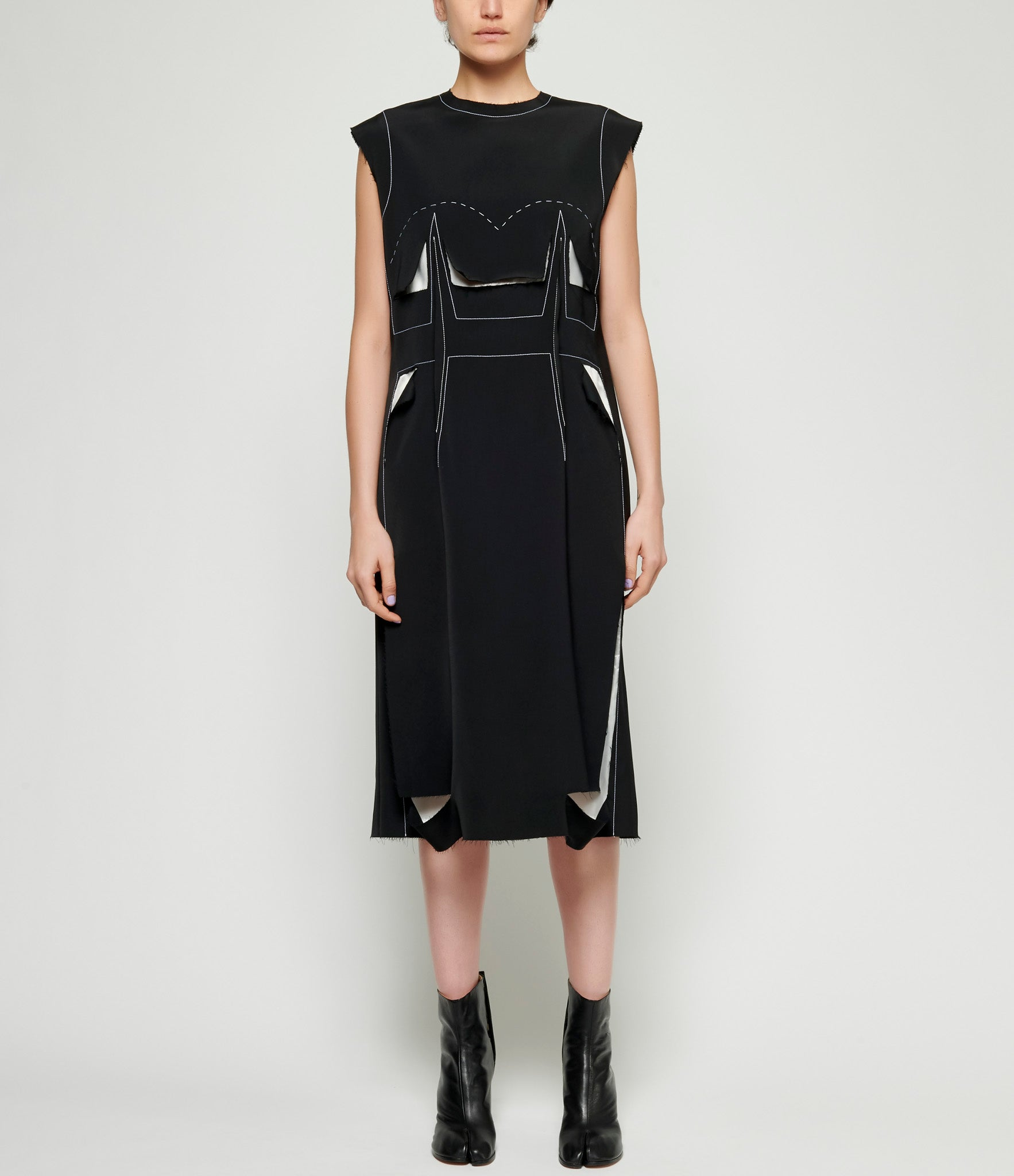 Maison Margiela Runway Viscose Cady Tunic Dress