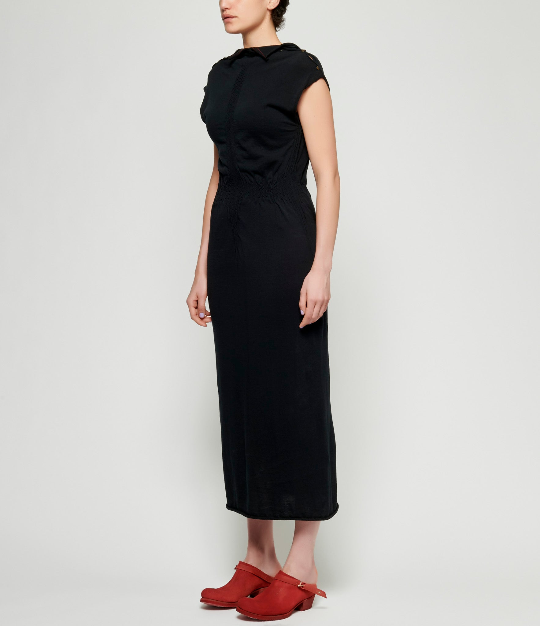 m.a+ Knit Crunched Tight Long Dress