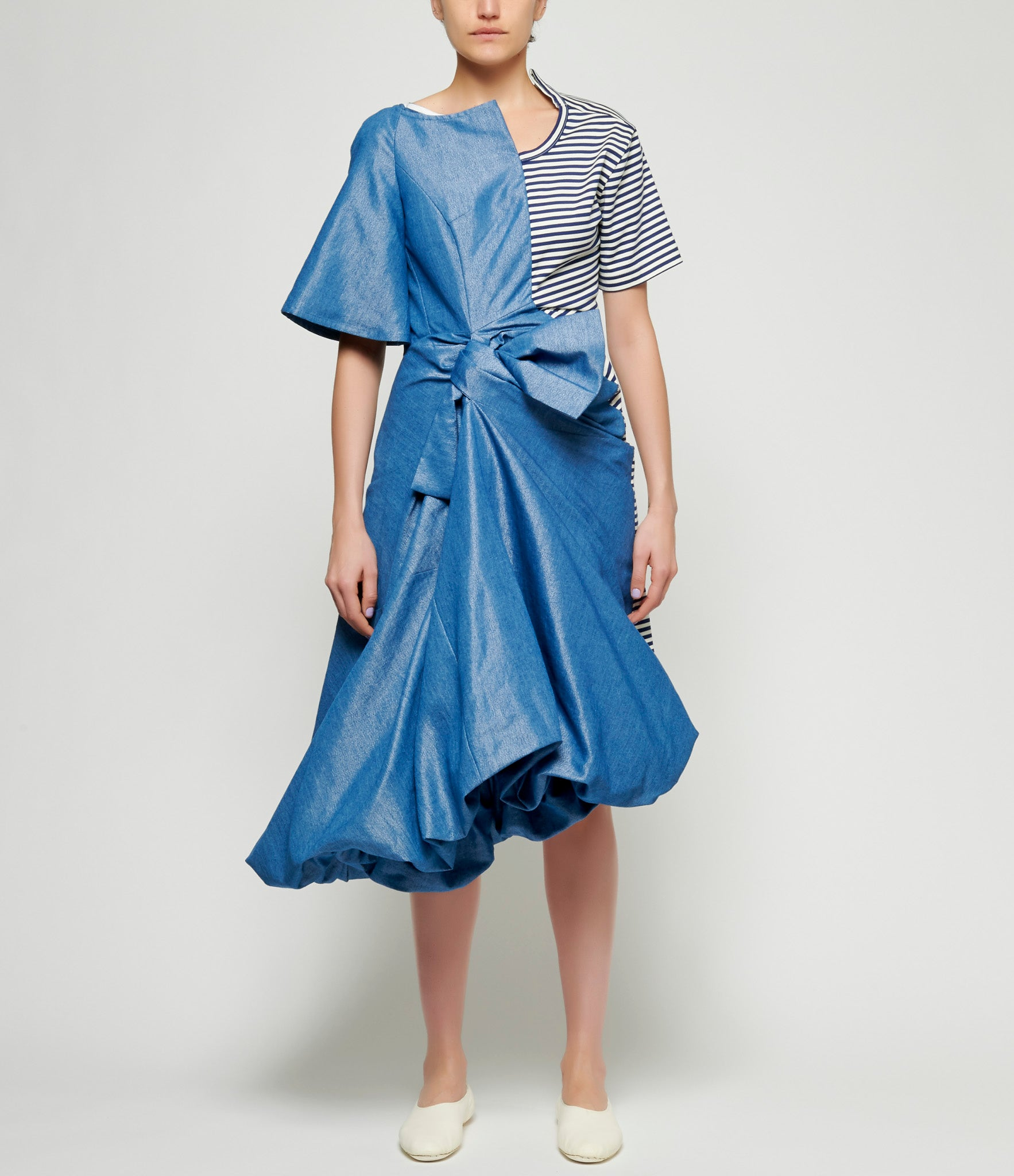Junya Watanabe Cotton Lame Denim Dress