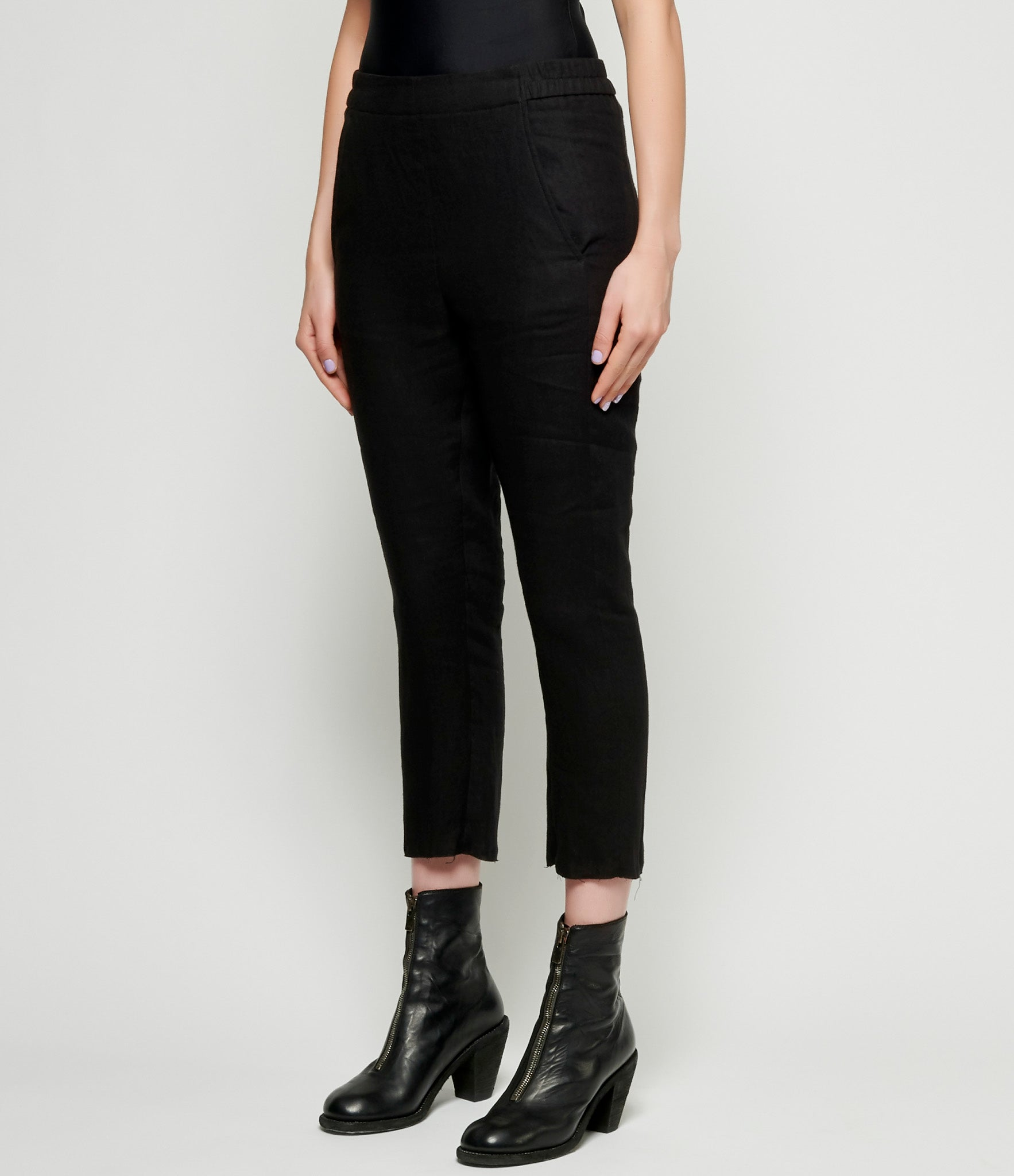 Ann Demeulemeester Light Brushed Black Trousers