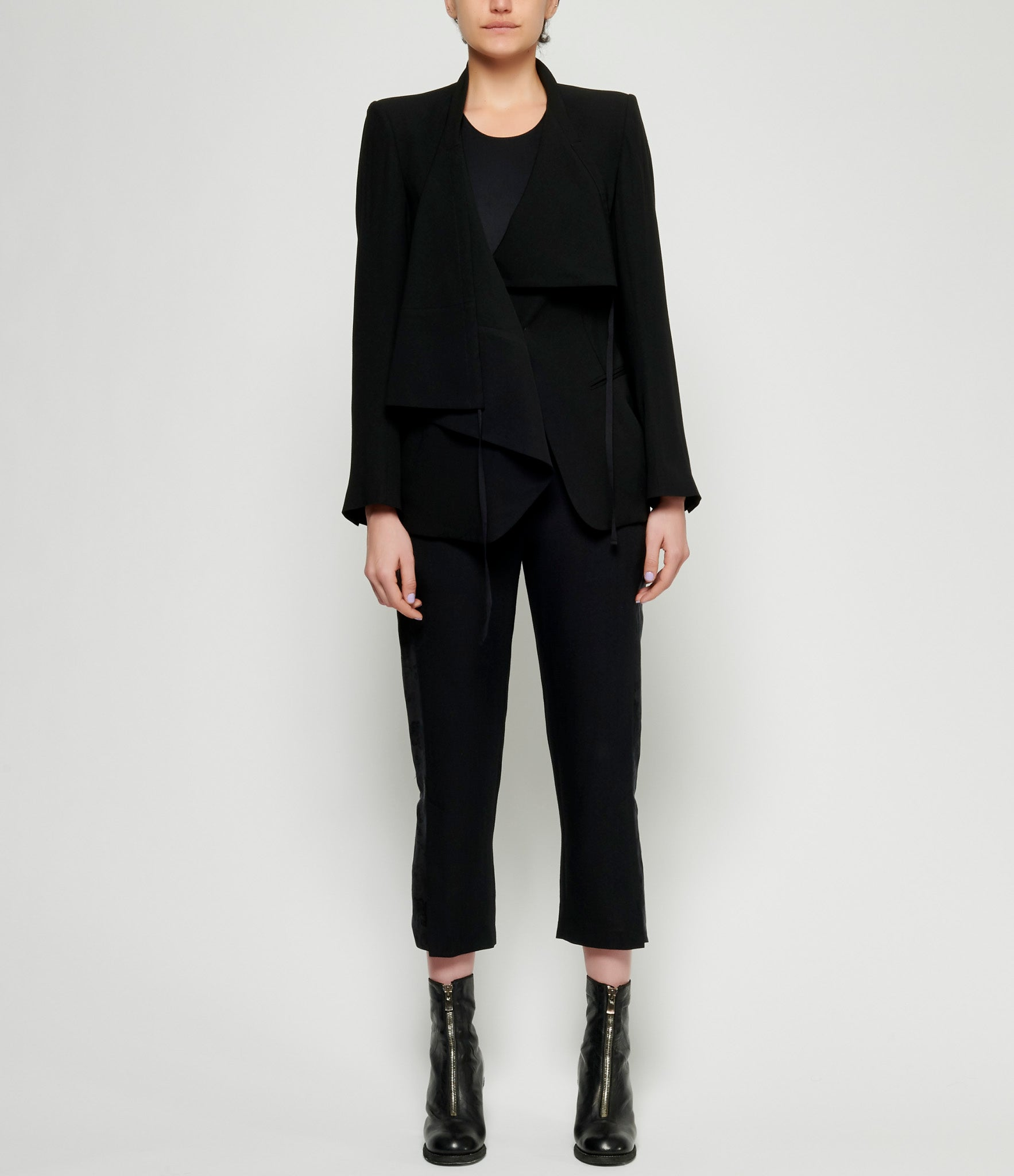 Ann Demeulemeester Wool Viscose Black Jacket