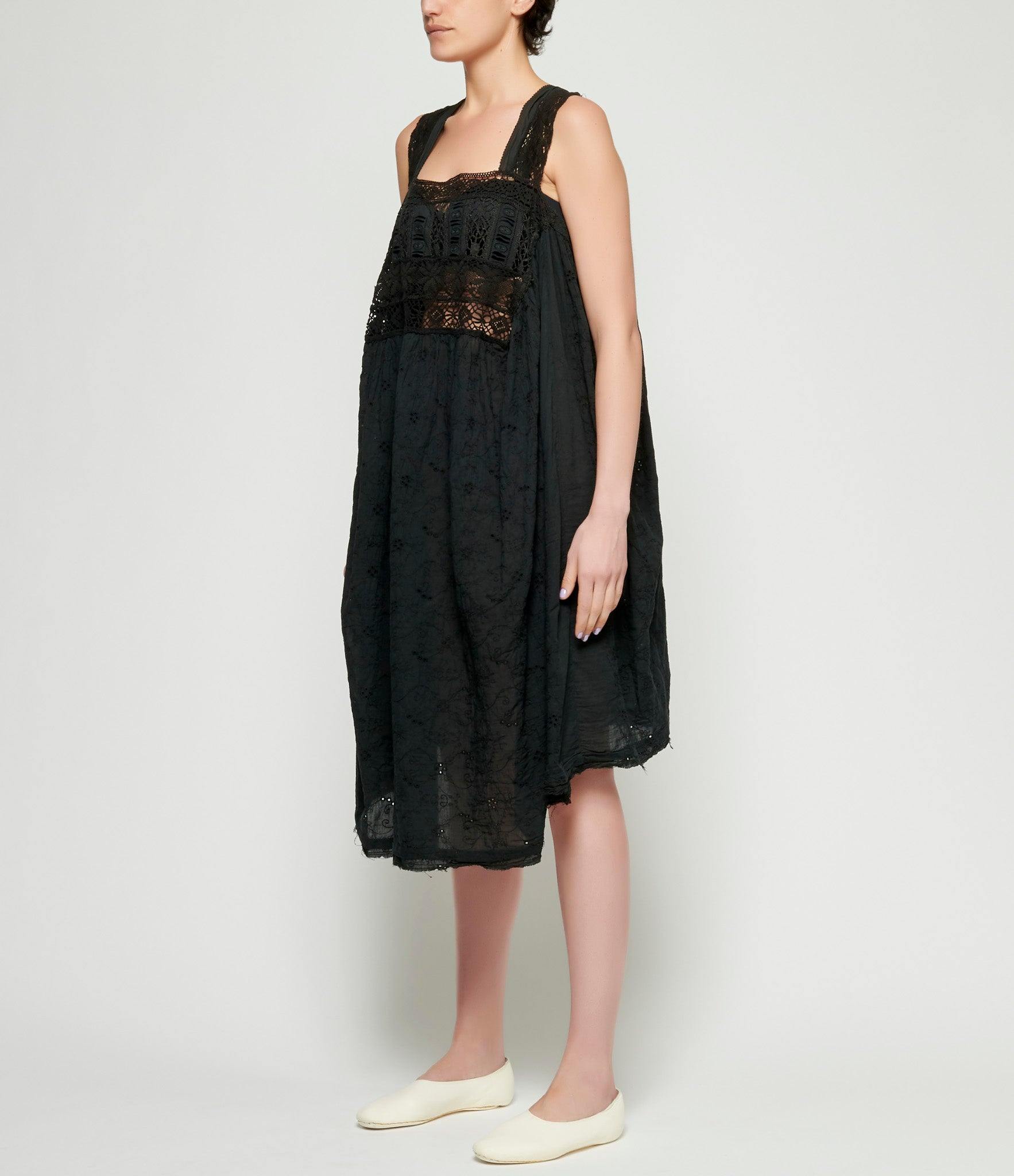 Marc Le Bihan Woven Embroidered Lace Dress