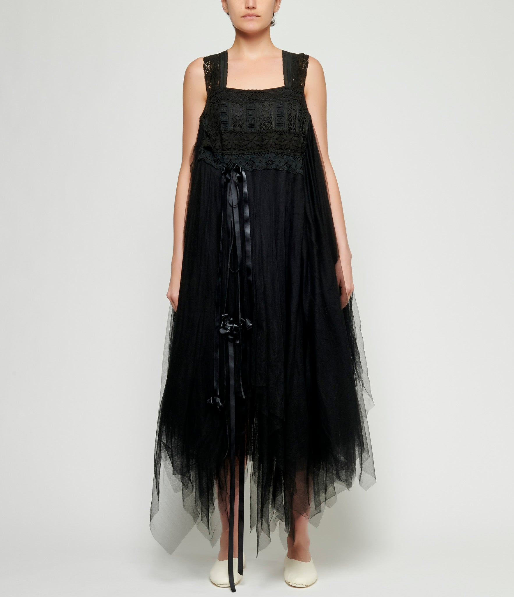 Marc Le Bihan Lynn Sleeveless Lace Tulle Skirt Dress