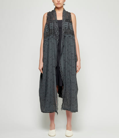 Marc Le Bihan Woven Embroidered Lace Coat