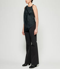 Marc Le Bihan Asymmetrical Twist Silk Top