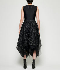 Marc Le Bihan Floral Embroidered 4 Layered Tulle Skirt