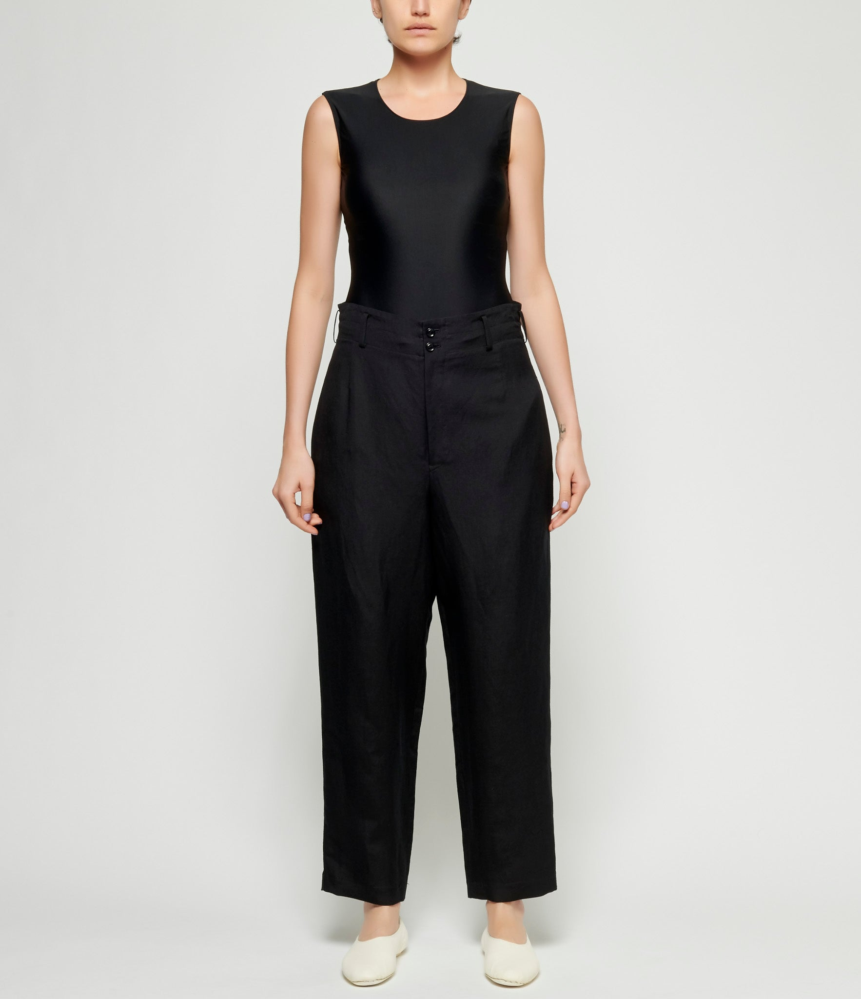 Y's U-Tapered Wide Asymmetric Back Pocket Pants