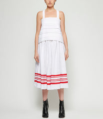 Maria Turri Layered White Tank Top