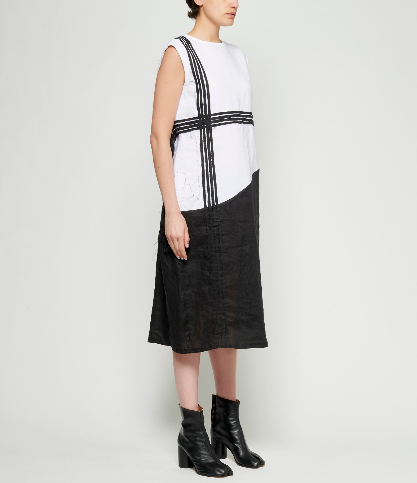 Maria Turri Black Stripes Dress