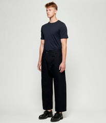 Jan Jan Van Essche Melange Cotton Wool Canvas Loose Fit Trousers