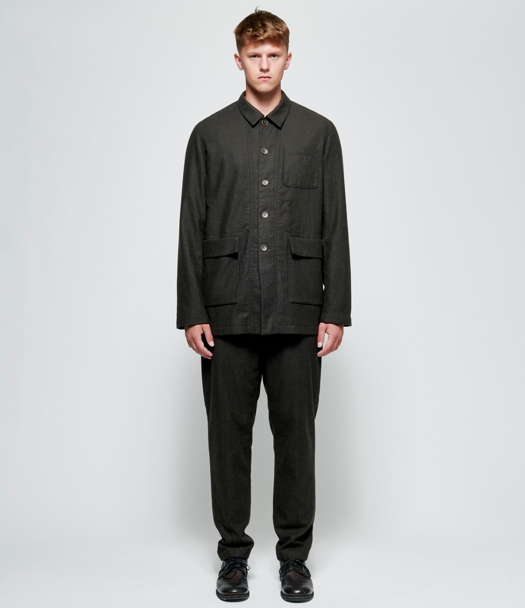 'T Ensemble Cotton Yak Flannel Worker Jacket