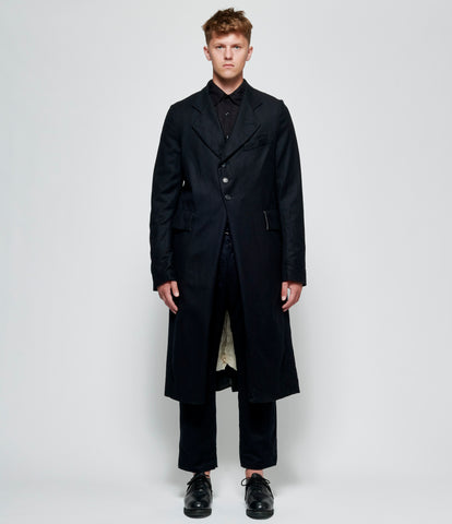 Elena Dawson Black Wool Cashmere Coat