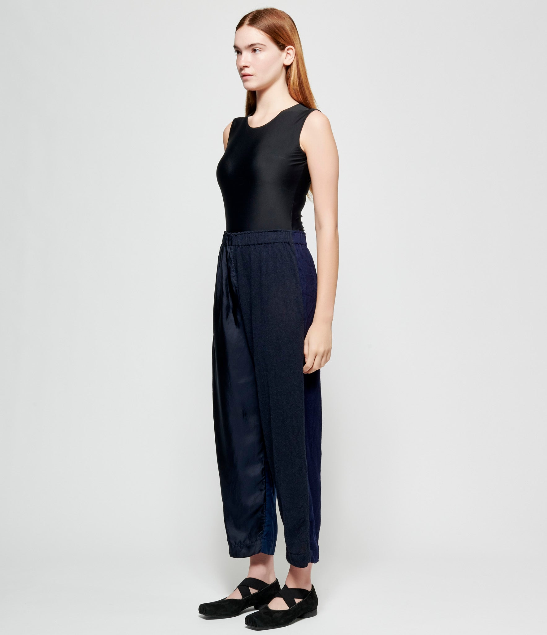 Daniela Gregis Mixed Fabric Patchwork Elastic Pants