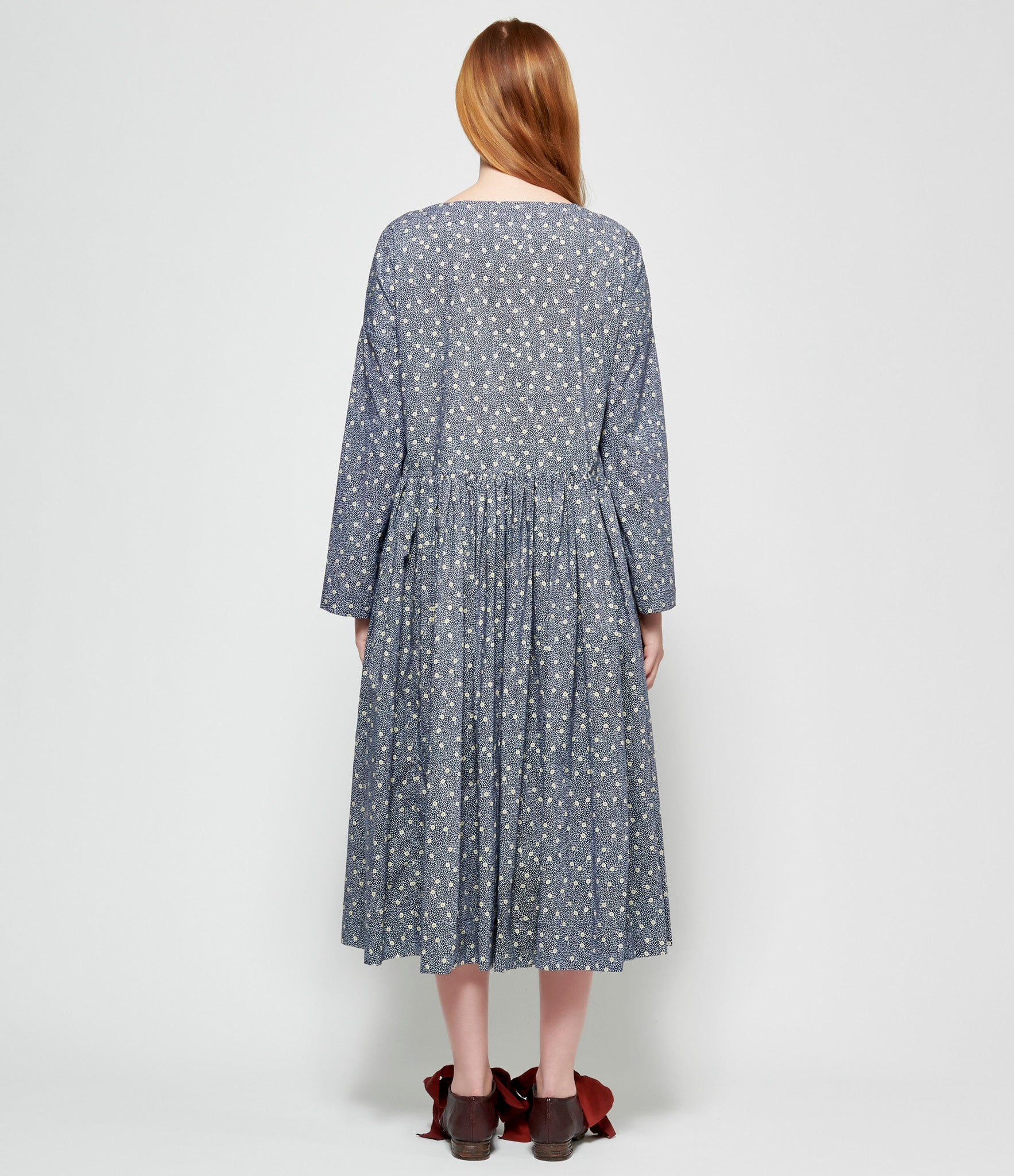 Casey Casey Navy P Point Pasha Rouch Dress