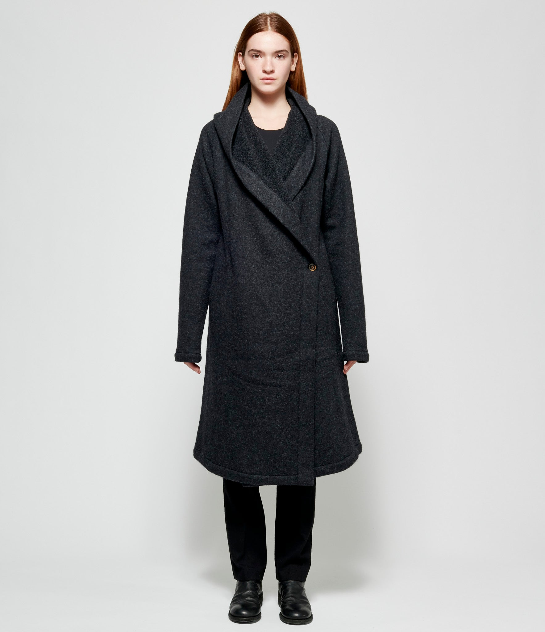 Forme d'Expression Hooded Robe Coat