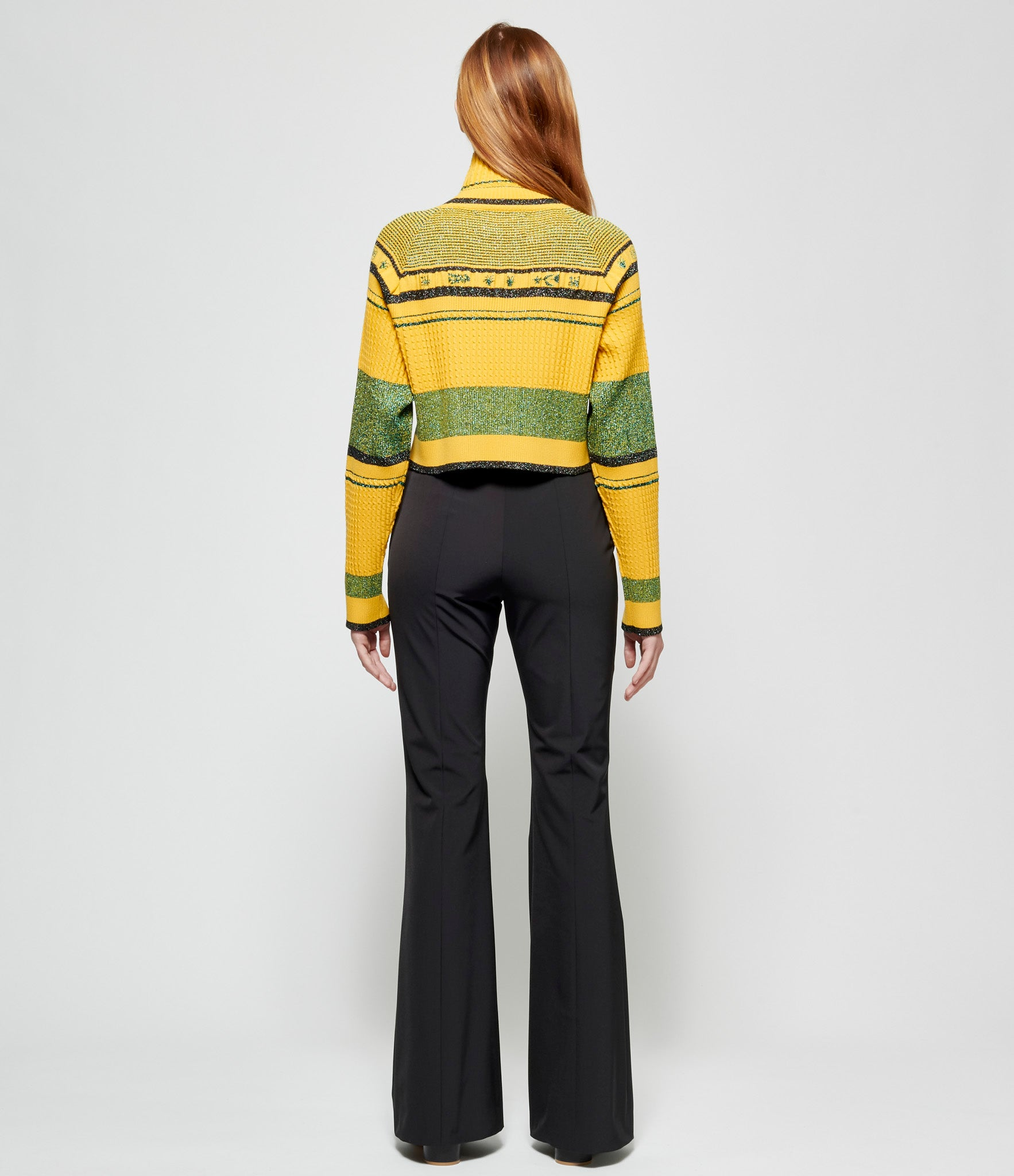 Quetsche Yellow Classic High Neck Sweater