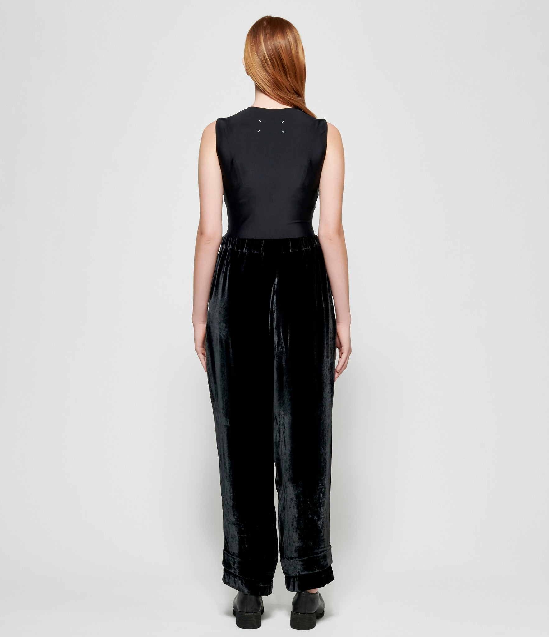 Replika Black Velvet Pants