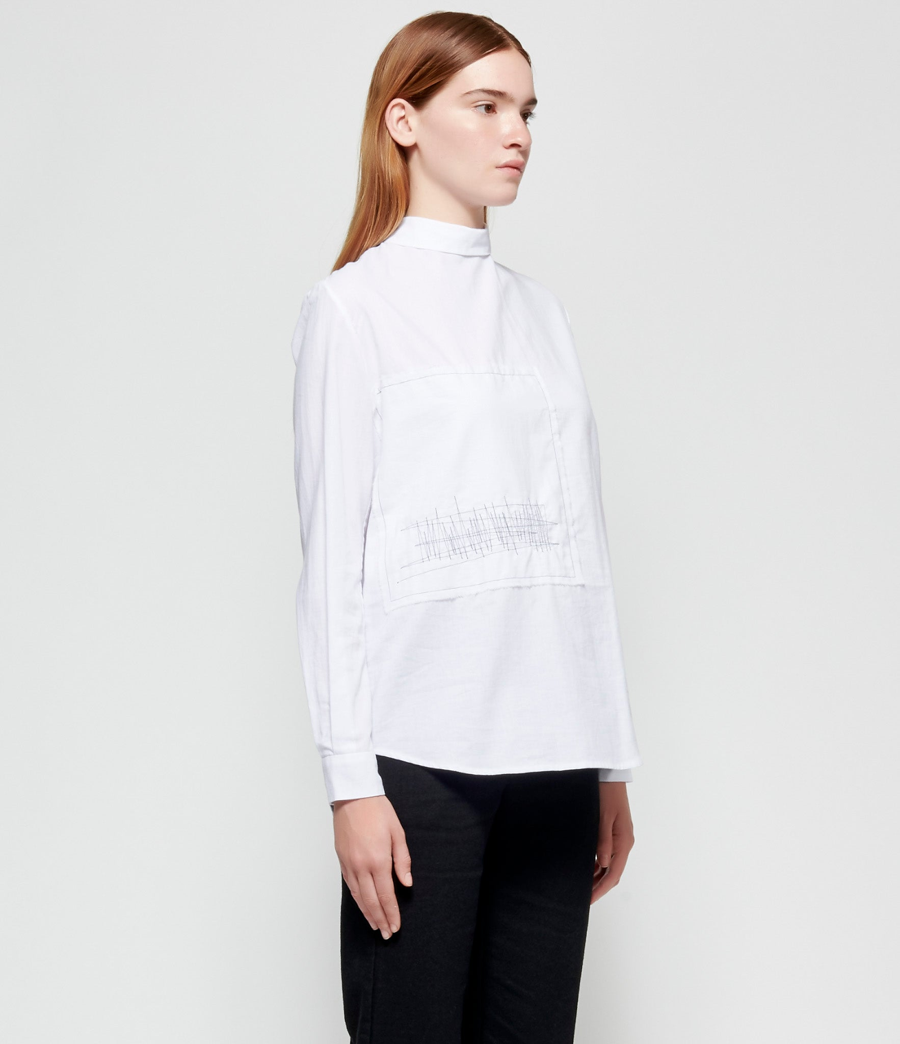 Maria Turri Embroidered Patched Back Shirt