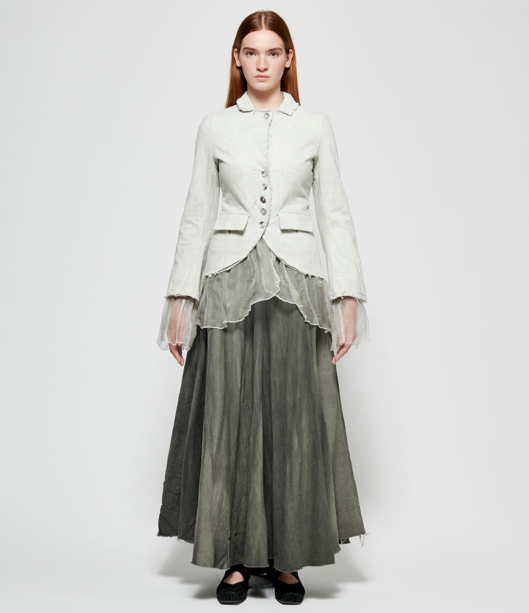 Sagittaire A Scar-Stitched Extended Silk Layer Jacket