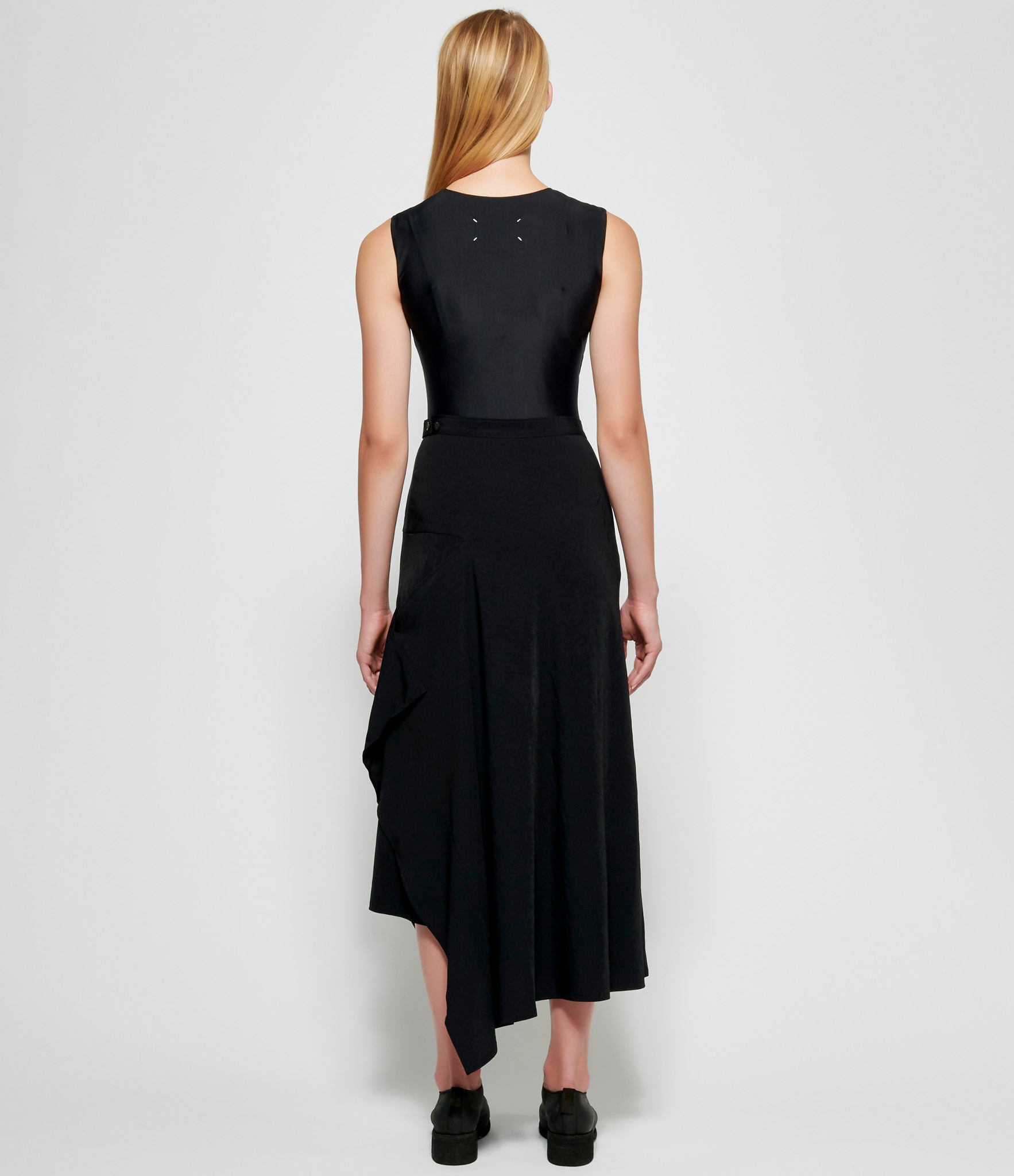 Yohji Yamamoto Left Side Deco Cloth Button Skirt