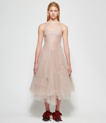 Marc Le Bihan Rose Sleeveless Tulle Dress