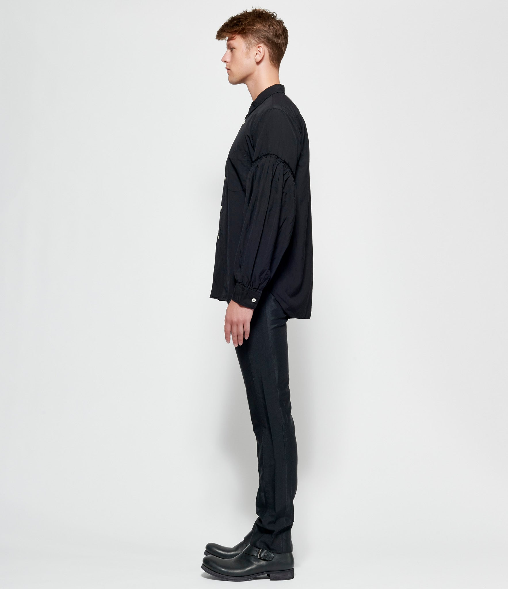 Comme Des Garcons Homme Plus Garment Treated Polyester Satin x Polyester Double Cloth Twill Pants