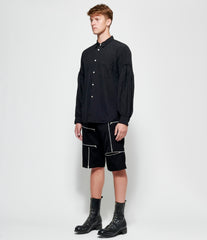 Comme Des Garcons Homme Plus Formal Wool Doeskin Shorts