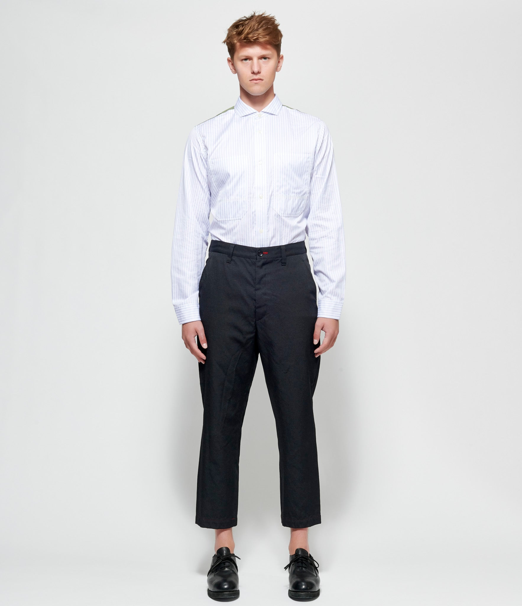Junya Watanabe Garment Milled Polyester Wool Twill Trousers