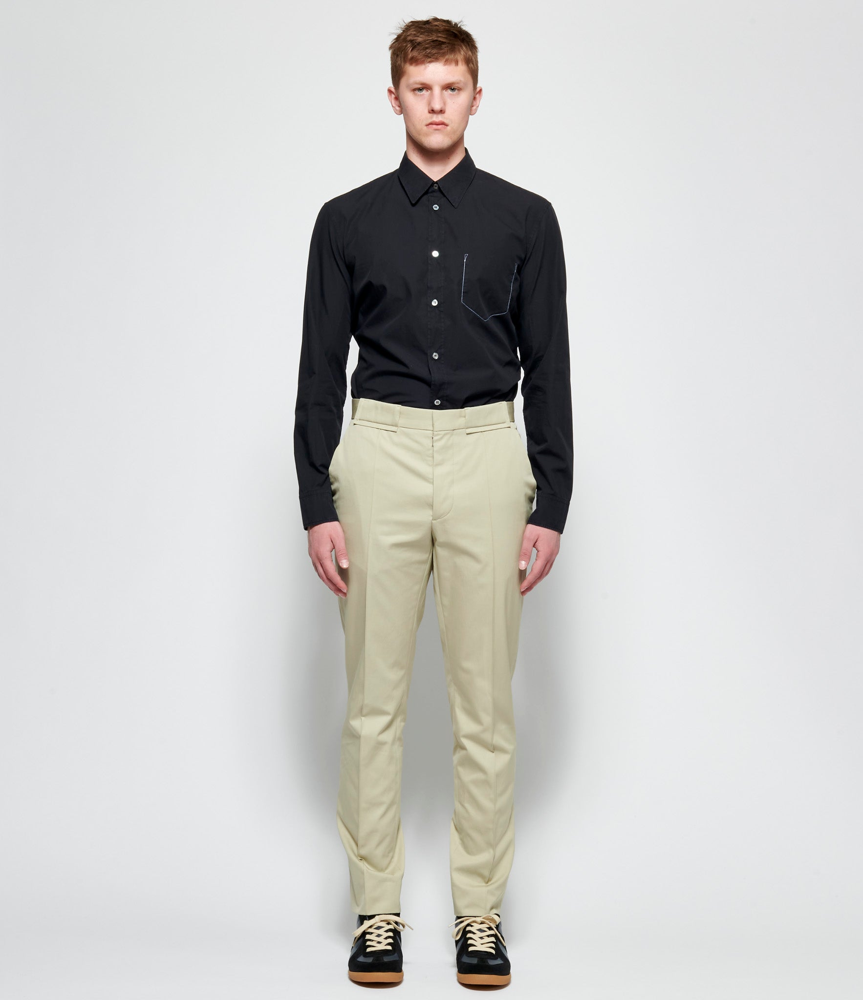 Maison Margiela Cotton Twill Khaki Pants