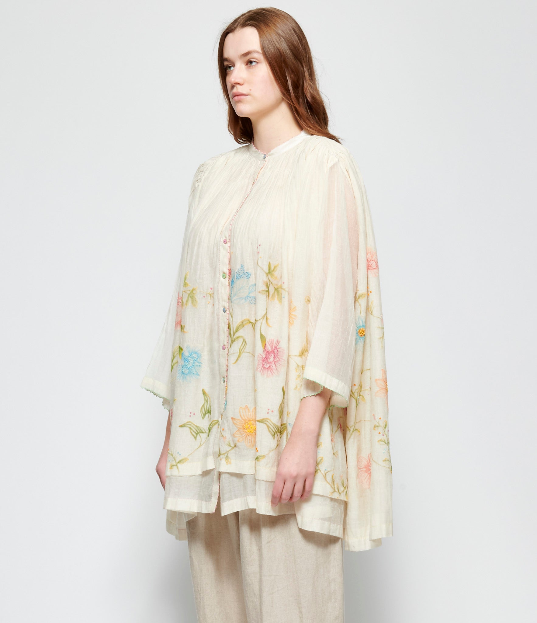 Pero Embroidered Cotton Silk Shirt