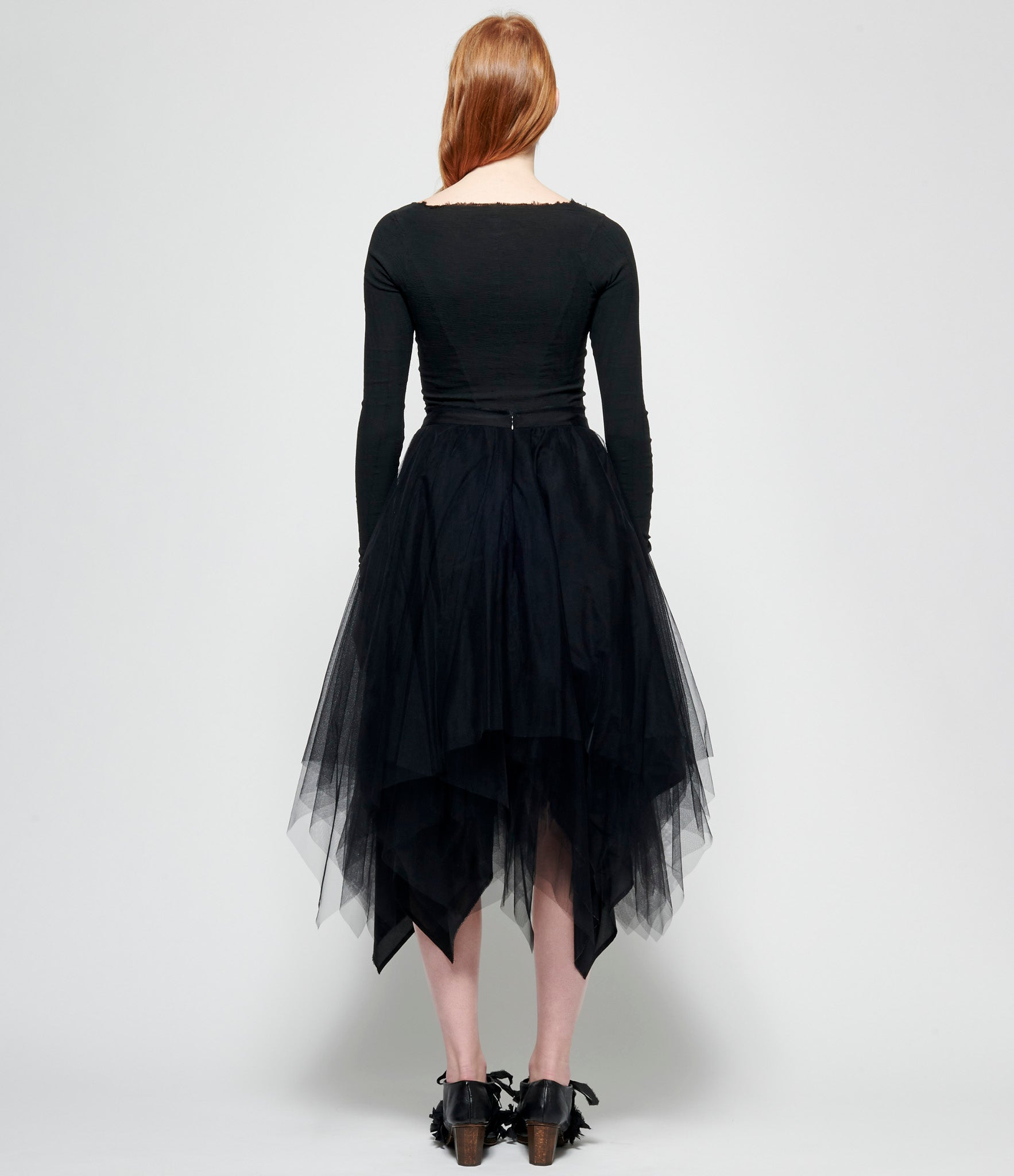 Marc Le Bihan Black Shifted 6 Layer Tulle Skirt