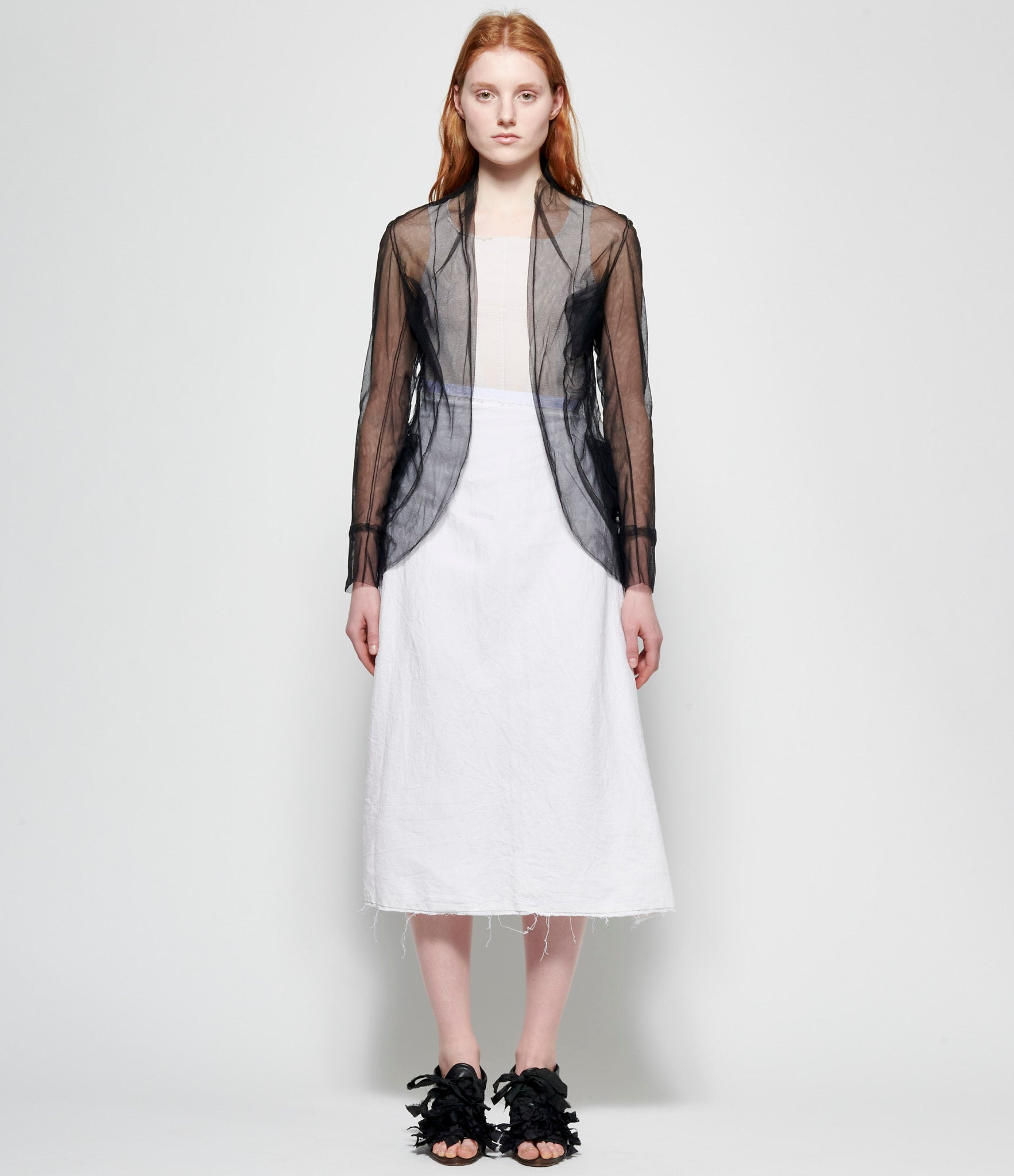 Marc Le Bihan Black Tulle Collar Jacket