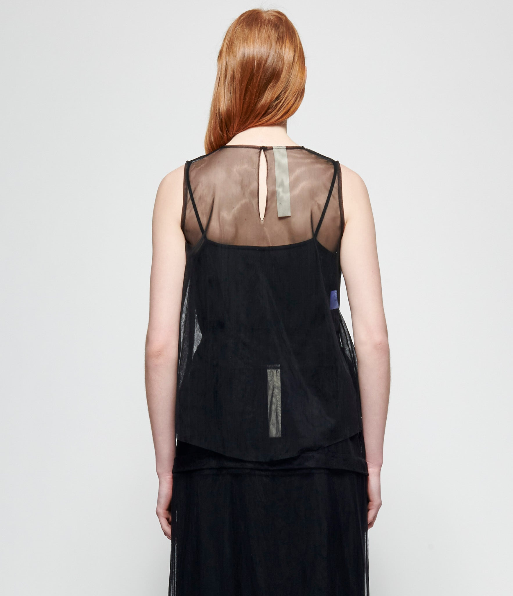 Replika Hand Painted Bronze Black Polyester Tulle Top