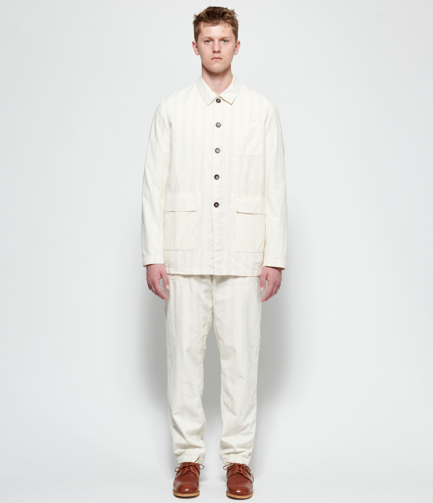 'T Ensemble Crinkled Poplin Reversible Pajama Jacket