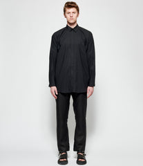 Jan Jan Van Essche Black Cotton Linen Typewriter Shirt